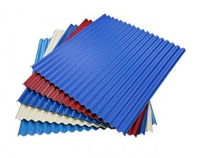 Color Steel Corrugated Roofing Sheet / Galvanized Steel Roof Tile