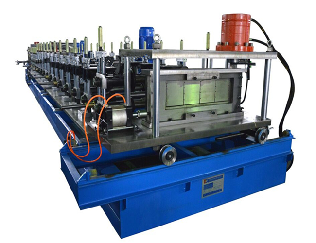 Full automatic adjustable size cable tray roll forming machine
