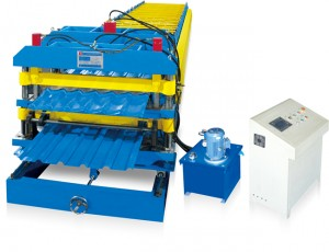 Double Layer/Roof Panel and Glazed Tile Roll Forming Machine