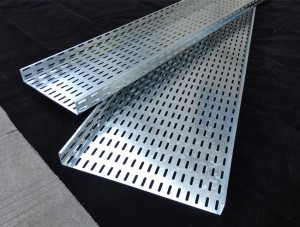 Steel Cable Tray Perforated Ladder Type Wire Mesh